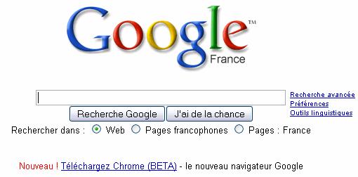 Lien pour télécharger Chrome