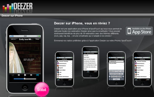 Deezer iPhone