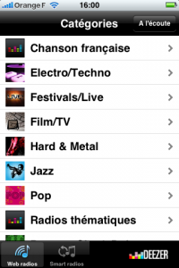 Deezer iPhone webradio
