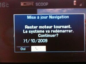 Mise à jour Navigation Radars