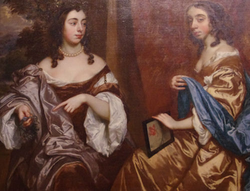 Mary Capel Later Duchess of Beaufort and Her Sister Elizabeth Countess of Carnarvon